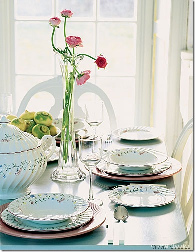 Summer-Chintz dishes crystal classics