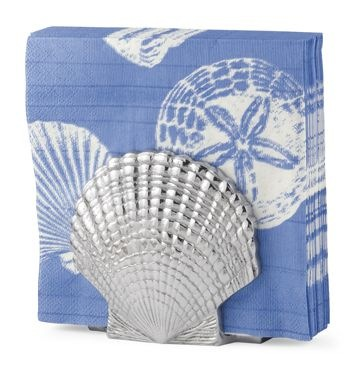 napkin holder scallop shell home by the seashore