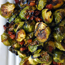 Brussels Sprouts with Pancetta and Balsamic Syrup