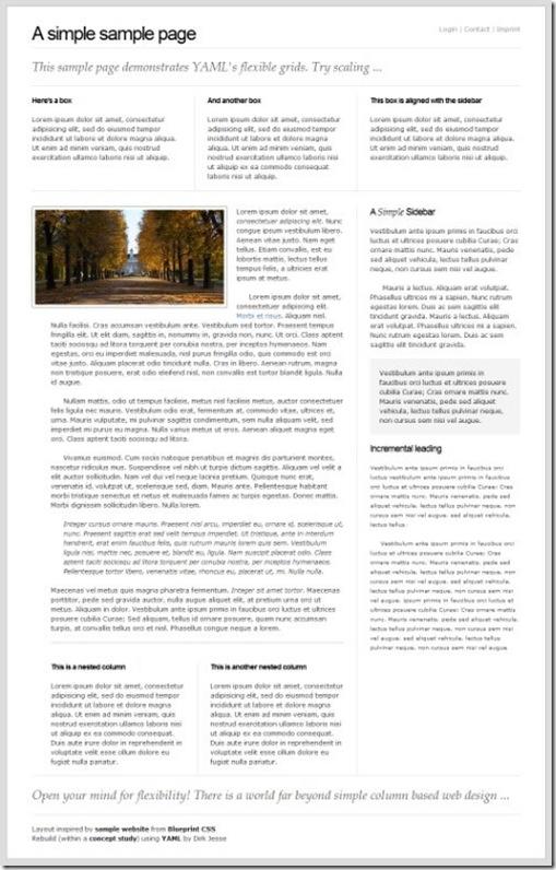 Flexible Layouts with YAML   css-framework-4-1
