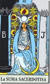 carta del tarot la suma sacerdotisa