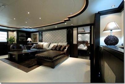 Os  interiores de luxuosos iates 22