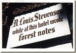 plaque Stevenson Auberge Siron