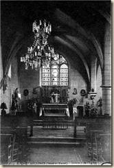 Intérieur de l'église de Recloses