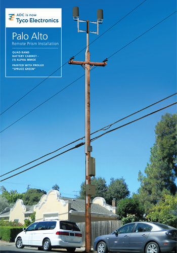 Utility pole with das