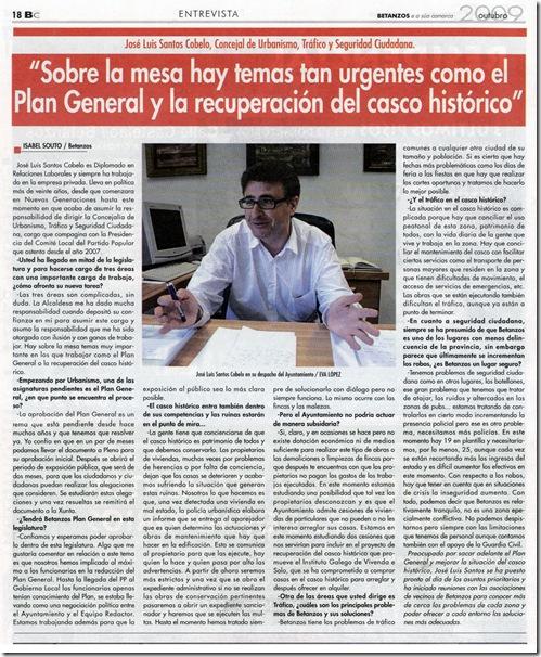 Betanzos e a súa Comarca. Entrevista a José Luis Santos Cobelo