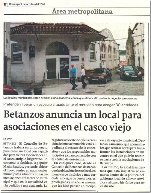 Betanzos anuncia un local para asociaciones en el casco viejo