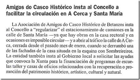 """Recorte da edición dixital do xornal  """"La Opinión"""" correspondente ao sábado 5 de xuño de 2010"""
