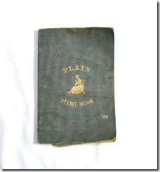 1800s Plain Needlework Book