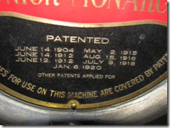 Closeup of Patent Info