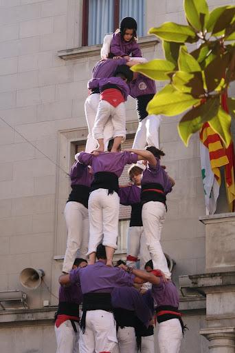 Quatre de set amb agulla, Colla Castellera de Figueres, Novembre de 2008