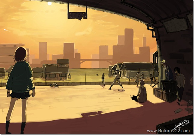 Baseball_Sunset_by_sketcher2007