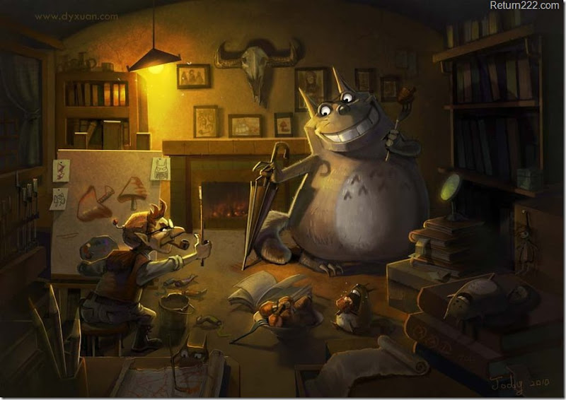 painting_for_totoro2010_by_jodyzhou-d2yr9jw