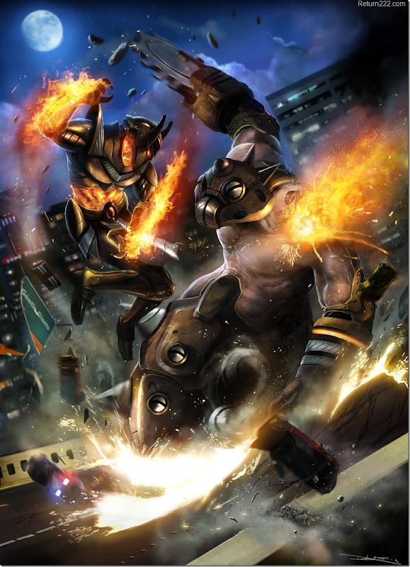 Fire_God_vs_Mole_Man___by_adonihs
