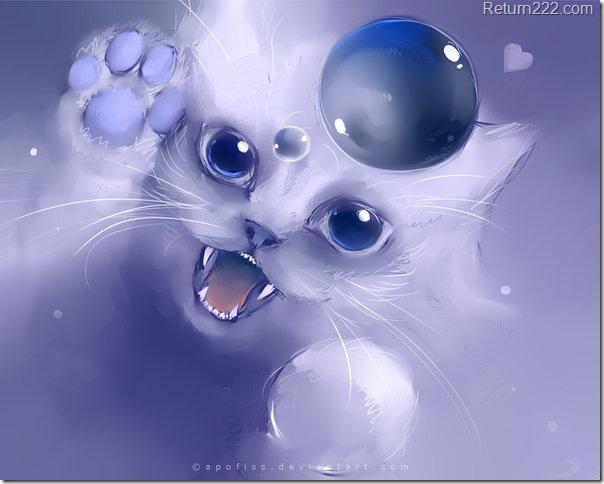 El gato negro de la ilustración