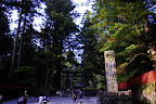 The broad walkway near Sanbutsudo in Nikko