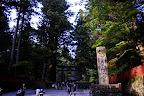 The broad walkway near Sanbutsudo in Nikko