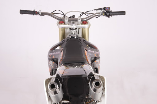 250cc Crossfire XZ250R Dirt Bike twin dual muffler exhaust