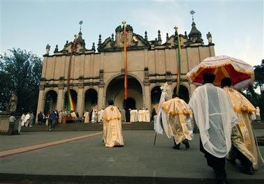 Ethiopian Orthodox Church at the Holy Trinity Church in Addis Ababa