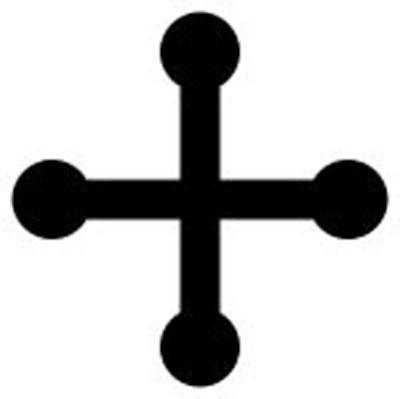 Cross pommee  -   A cross pommee (pommée, pommy) has a circular knob at the end of each arm.