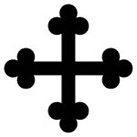 Cross bottony - A cross with the ends of the arms bottony (or botonny), i.e. shaped like an architectural trefoil.
