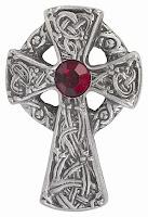 A Celtic type cross [silver cross]