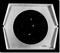 Spacewar - tela do jogo.