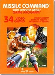 Capa de Missile Command para Atari 2600