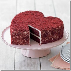 williams sonoma red velvet heart cake