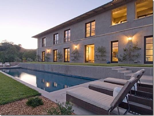 Heraldsburg Palladian villa exterior pool