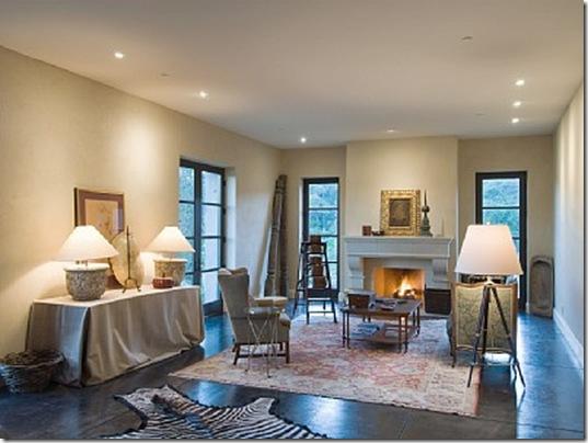 Heraldsburg Palladian villa living room