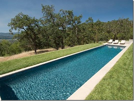 Heraldsburg Palladian villa pool
