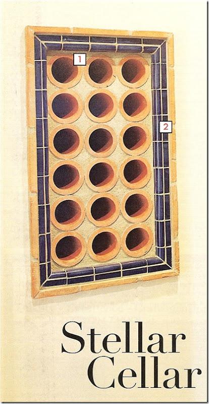 PHG terra cotta wine rack