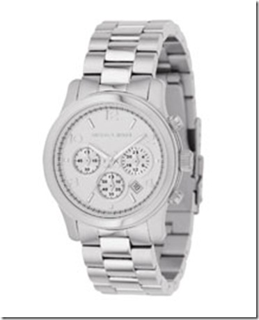 silvelr- michael kors silver watch