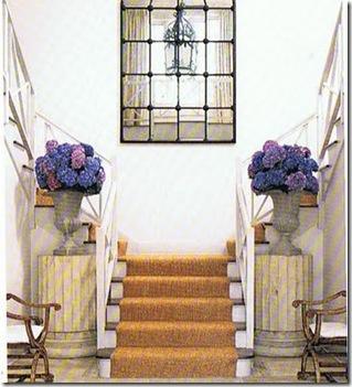 villa anna starirway with hydrangeas