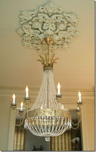 julie neill- juliette chandelier with ornate medallion