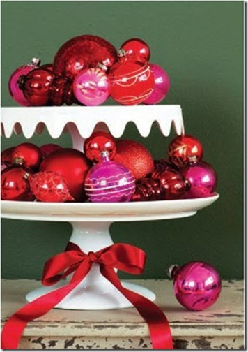 everything LEB pink and red ornaments