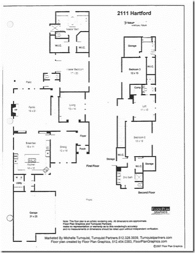 2111 Hartford Road Austin- floor plan