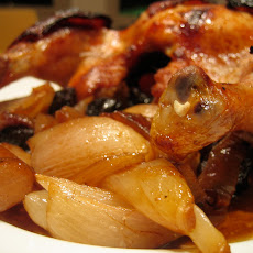 Roasted Chicken w/ Prunes and Armagnac