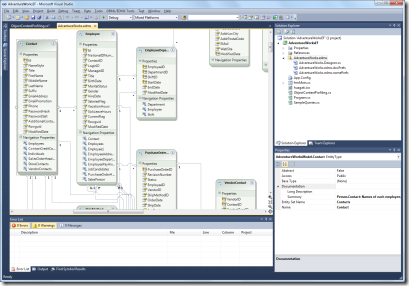 AdventureWorks EF model in Visual Studio 2010