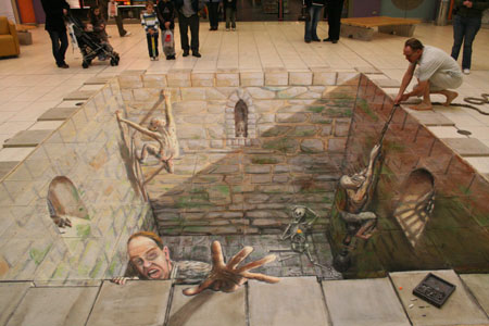44 Amazing Julian Beever S 3d Pavement Drawings Bored Panda