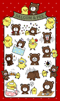 Screenshot of DalBear Pee sticker pack
