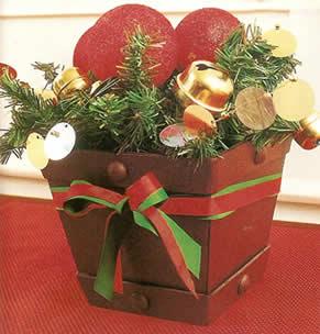 Como hacer un centro de mesa para navidad realiza tus - Manualidades centros de navidad ...