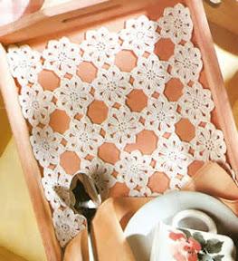 Individual tejido a crochet Un detalle romantico