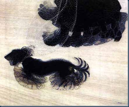 dinamismo de perro con correa 1912