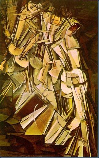 Desnudo que desciende por la escalera No2 Duchamp