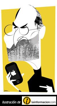 Ilustracion de Steve Jobs de lainformacion.com
