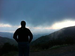 Friend looking over Julian valley