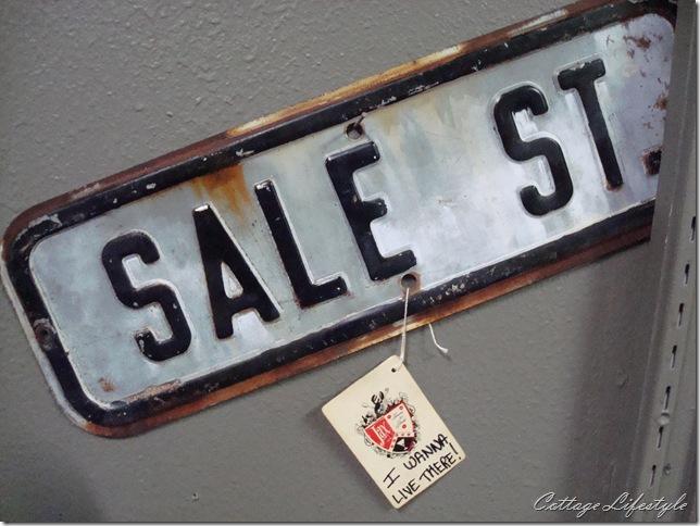 sale street sign