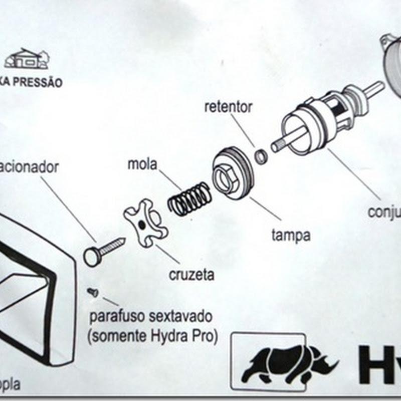 Como trocar o reparo da válvula Hydra